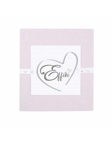 Effiki - Prześcieradło z gumką 100% bawełny - Pudrowy róż 70x140