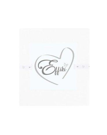 Effiki - Prześcieradło na przewijak i do wózka 10 0% bawełny - Białe 50x80