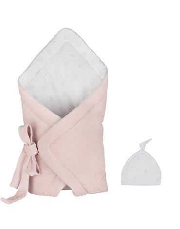 Komplet - różowy aksamitny rożek + czapeczka - Effiki
