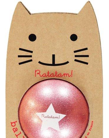 Ratatam - Piłka mała 15 cm Glitter pink