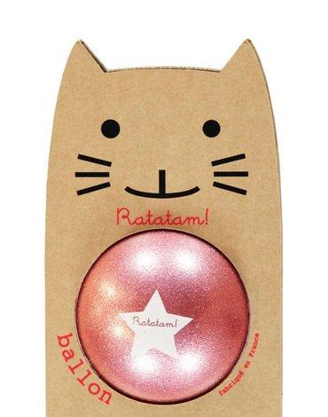 Ratatam - Piłka duża 22 cm Glitter pink