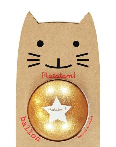 Ratatam - Piłka duża 22 cm Glitter gold