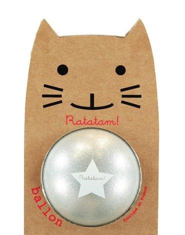 Ratatam - Piłka duża 22 cm Glitter silver
