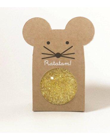 Ratatam - Piłka mini kauczukowa 4 cm Gold