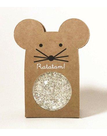Ratatam - Piłka mini kauczukowa 4 cm Silver