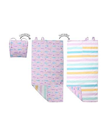FlapJack Ręcznik Plecak Plażowy dla Dzieci 2w1 Narwal