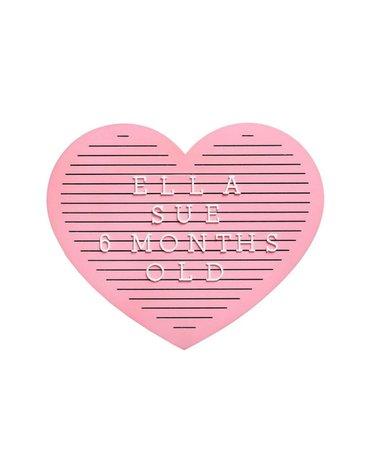 Pearhead Tablica z Literkami Serce Pink