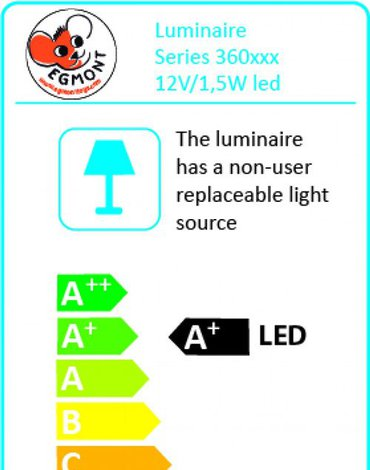 Lampka nocna LED, Grzybek, petrol | Egmont Toys®
