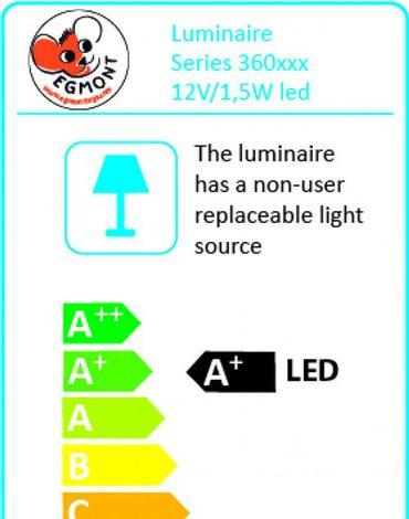 Lampka nocna LED, Grzybek, srebrny | Egmont Toys®