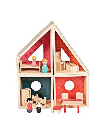 Egmont Toys® - Drewniany domek dla lalek z figurkami i wyposażeniem