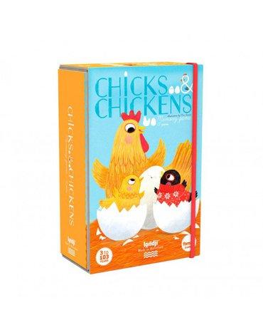 Memo dla dzieci, Kurczątka i kury | Londji®