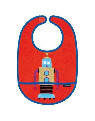 Śliniak z kieszonką, bawełniany, seria Roboty | Maison Petit Jour®