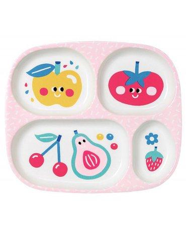 Talerz z przegródkami dla dzieci, seria Tutti Frutti | Maison Petit Jour®