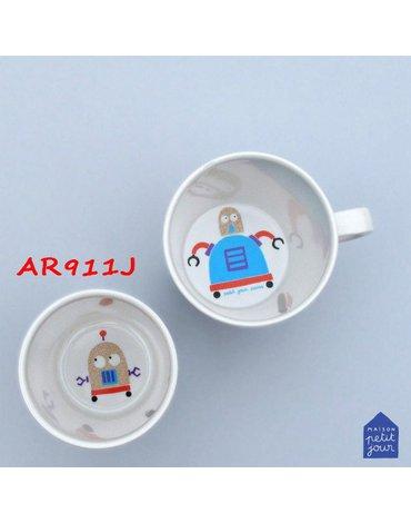 Mały kubek do napojów dla dziecka, seria Roboty | Maison Petit Jour®