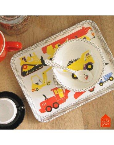 Taca do serwowania posiłków, Pojazdy Budowlane | Maison Petit Jour®