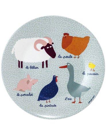 Talerz deserowy fi 20 cm dla dzieci, seria Farma | Maison Petit Jour®