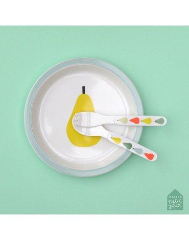 Talerz fi 18 cm dla małych dzieci, seria Gruszki | Maison Petit Jour®