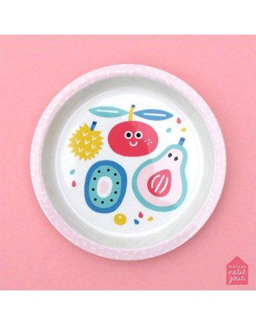 Talerz fi 18 cm dla małych dzieci, seria Tutti Frutti | Maison Petit Jour®