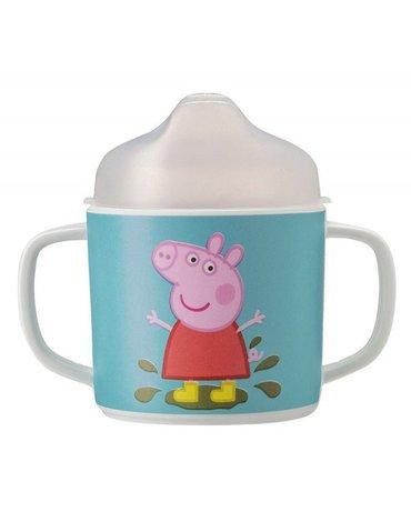 Kubek przykrywką do picia dla dziecka, seria Świnka Peppa | Petit Jour Paris®