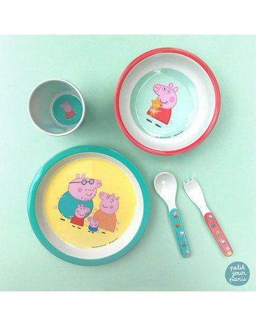Miseczka dla dzieci z melaminy, Świnka Peppa   Petit Jour Paris®