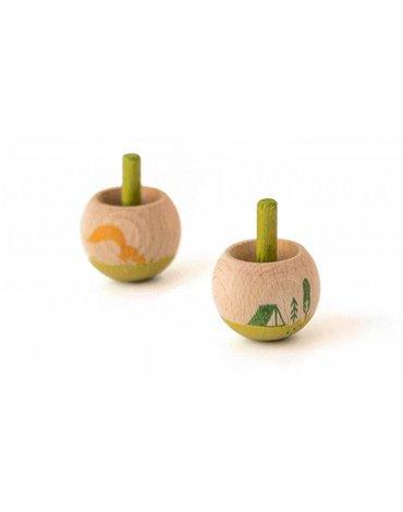 Bączek drewniany mini, Magic top, Natura   Londji®