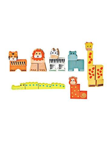 Drewniane klocki - zwierzątka   Egmont Toys®