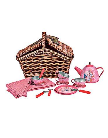 Zestaw herbaciany w wiklinowym koszyczku, Paw | Egmont Toys®
