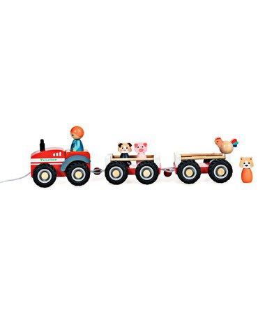 Drewniany ciągnik z przyczepami   Egmont Toys®