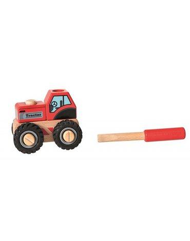 Drewniany ciągnik do składania - ze śrubokrętem  Egmont Toys®