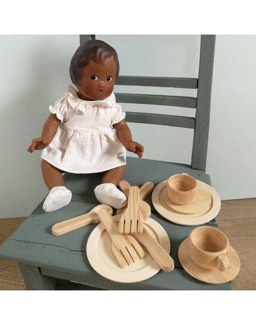 Drewniany zestaw obiadowy do zabawy | Egmont Toys®