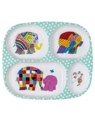 Elmer, Talerz z przegródkami dla dzieci   Petit Jour Paris®