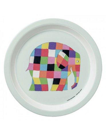 Elmer, Talerz z melaminy fi 18 cm dla dzieci   Petit Jour Paris®