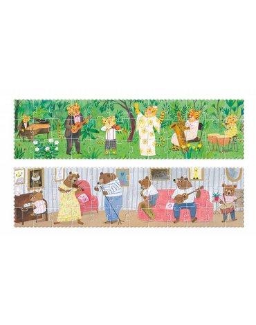 Dwustronne puzzle dla dzieci, Dzika Muzyka   Londji®