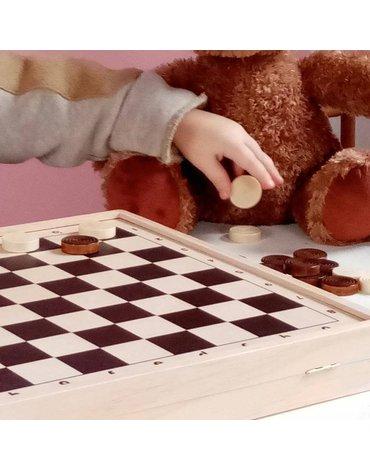 Drewniane gry logiczne, 2w1, Warcaby, Windmill | Egmont Toys®