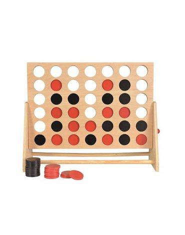 Cztery w rzędzie, drewniana gra - wersja duża | Egmont Toys®