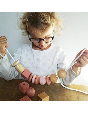 Nawlekanka drewniana, duże korale   Egmont Toys®