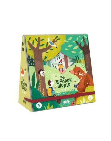 Drewniana układanka - figurki, Mój Drewniany Leśny Świat | Londji®