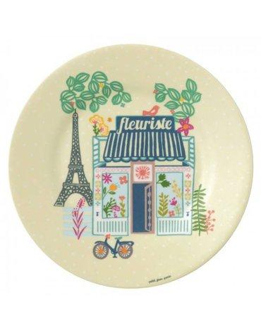 Talerz deserowy fi 20 cm Paryż Emilii   Petit Jour Paris®