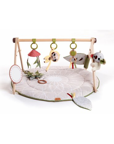 Tiny Love Boho - Gimnastyka/mata dla bobasa z drewnianym stojakiem - Boho Chic
