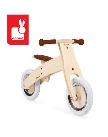 Drewniany rowerek biegowy z naklejkami do personalizacji Bikloon Nature 3+, Janod