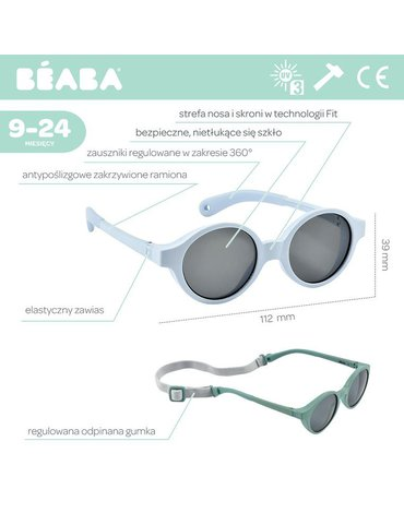 Beaba Okulary przeciwsłoneczne dla dzieci 9-24 miesięcy Pearl blue