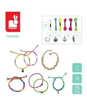 Zestaw do tworzenia biżuterii Neonowe brazylijskie bransoletki 8+, Janod