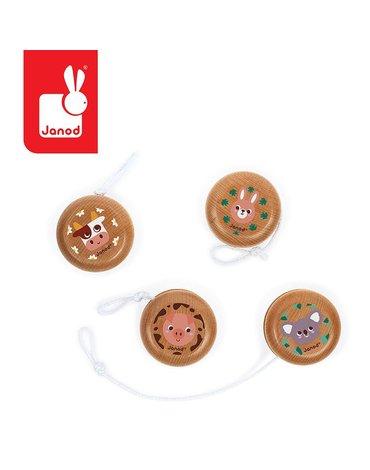 Drewniane jojo Pocket 5+, opakowanie zbiorcze 28 sztuk (4 rodzaje), Janod