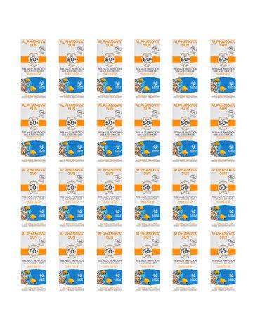 Alphanova Sun, BIO Krem przeciwsłoneczny, hipoalergiczny, wodoodporny, filtr SPF50, 50g, KARTON, 24 szt.