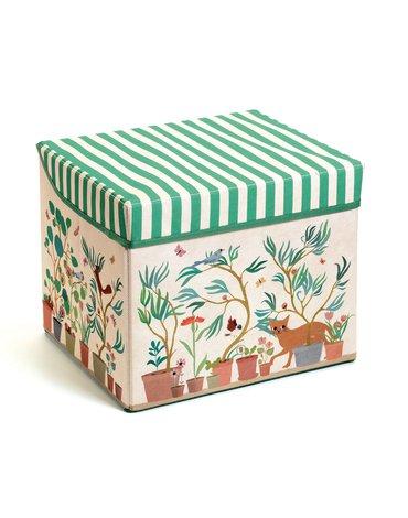 Djeco - Materiałowe pudełko siedzisko OGRÓD  DD04483