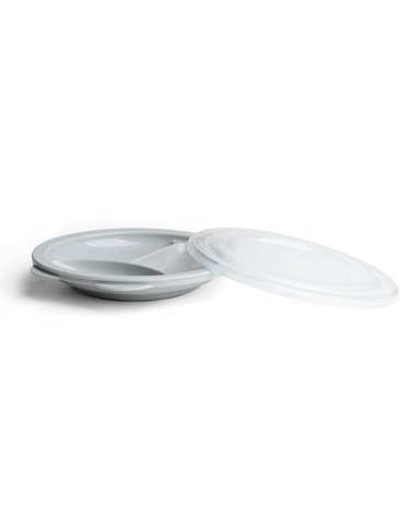 Herobility - talerzyk Eco Baby Plate Divider - szary