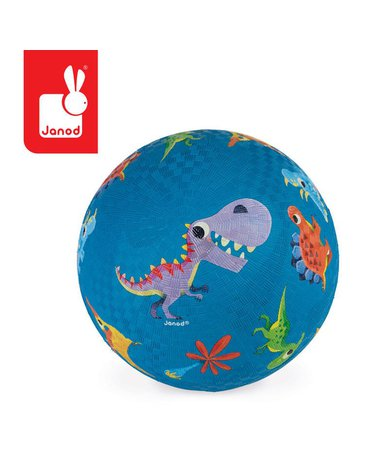 Piłka gumowa niebieska Dinozaury, Janod