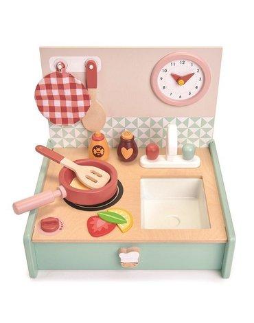Drewniana kuchnia przenośna, Mini Chef, Tender Leaf Toys