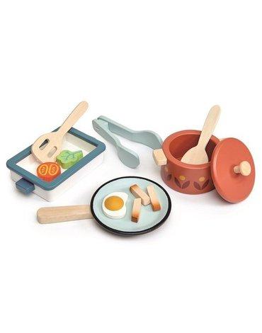 tender leaf toys - Zestaw drewnianych naczyń, Tender Lea Toys