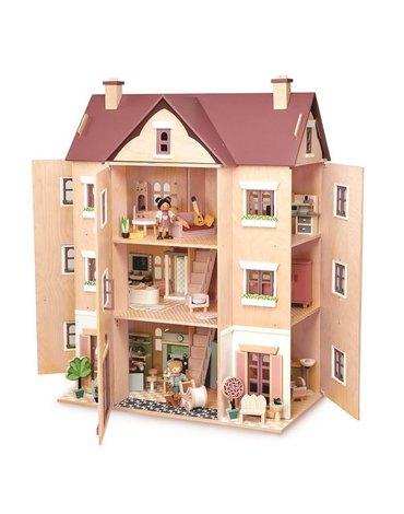 Drewniany czteropiętrowy domek dla lalek, Tender Leaf Toys